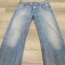 Diesel Kuratt Men's Jeans Size 36 X 34 Italy Buttonfly Distressed Wash 0070Z