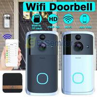 Two-way Door Bell WiFi Wireless Video PIR Doorbell Talk Smart Security HD Camera