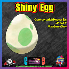 Square Shiny Egg | Choose Yours | Includes Isle of Armor | Pokemon Sword Shield