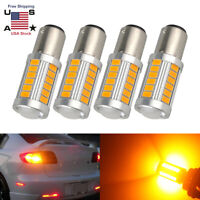 Bright Amber 1157 BAY15D Tail Stop Brake Backup Reverse Light 33SMD LED Bulb 12V