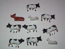 train modèle peint Cows chiffres x 10 Assortiment de 1/76 échelle - 28862