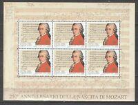 S37707) Vatican 2006 MNH Mozart Ms