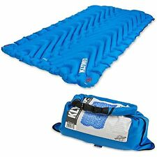 KLYMIT Static Double V Sleeping Pad Two-person Camping Travel Blue Mat BRAND NEW