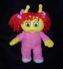"""9"""" 2006 MY BED BUGS TV SHOW WOOZY YELLOW GIRL PINK STUFFED ANIMAL PLUSH TOY DOLL"""