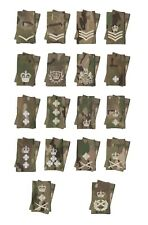 Pair of MTP Multi Terrain Pattern Rank Slides / Epaulettes - Ivory Thread