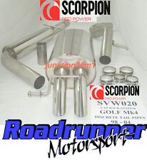 Scorpion Golf MK4 Exhaust System Stainless Steel Cat Back Resonated SVW020