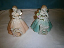 Vintage Josef Originals Birthday Angel Girls, 15 & 16 Repaired