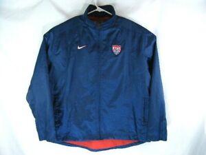 Nike Team Sports USA / US Soccer Blue Full Zip Up Jacket size XL