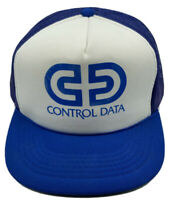 Vintage VTG Control Data Truckers Hat Cap Snapback Blue Mesh Unused