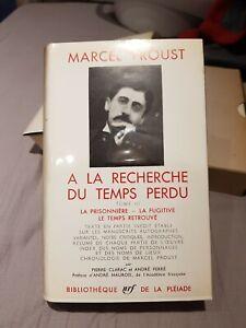 Bibliotheque de la pleiade. 1963.Marcel Proust A La Recherche Du Temps Perdu