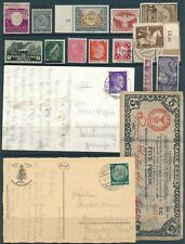 Lot Stamp Germany Japan Italy WWII Nazi Era Hitler Cover Currency Note Eritrea U