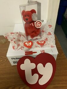 TY # 1 BEAR BEANIE BABY AUTHENTICATED 103 OF 253 WITH GIFTS FROM PARTY