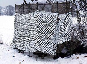 Telo rete camouflage Snow Neve per Cammuffamento militare/caccia 3 metri X 2.4 m