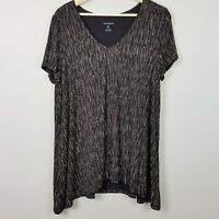 [ BLUE ILLUSION ] Womens Print Short sleeves Top  | Size XL or AU 16