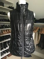 Lole Quilted Vest Zip Up Shiny Black Sz M Runs Like Small