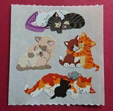 Stickeralbum Sticker Sandylion Vintage 90er Jahre Papier Kromekote süße Katzen
