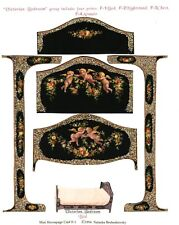 1/2 scale Natasha Beshenkovsky's Mini Decoupage- Victorian Collection Bed
