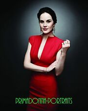 "MICHELLE DOCKERY 8X10 Lab Photo ""DOWNTON ABBEY"" Red Dress Actress Portrait"