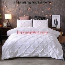 41 Duvet Cover Set Pinch Pleat 2/3pcs Queen King Size Bedclothes Bedding Sets