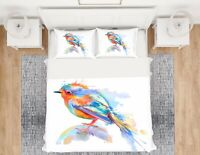 3D Color Bird ZHUA735 Bed Pillowcases Quilt Duvet Cover Set Queen King Zoe