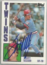 Minnesota Twins SCOTT ULLGER autographed 1984 Topps