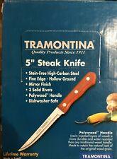 3 Steak Knives Tramontina 5� Stain-Free Hi-Carbon Steel Steak Knife, Riveted (3)