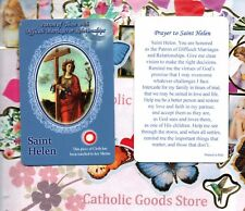 St. Saint Helen with Prayer - Relic -  Paperstock Holy Card