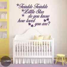 Twinkle Twinkle Little Star Do You Know How Loved You Are Vinyl Wall Decal