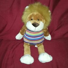 Animal Alley LION 15in Brown Cream Plush Striped Knit Shirt Toysrus Exclusive