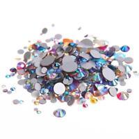 AB flat back non hotfix rhinestones flatback glass stones 3d nail art decoration