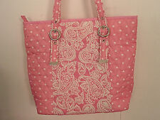 Pink baby girl quilted diaper bag /tote w/wallet cosmetic bag New Free shipping