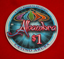 Albambra Aruba $1 Casino Chip MINT From The Cage To My Pocket - Never Played