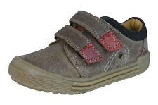 Chaussures marron avec attache auto-agrippant en cuir pour garçon de 2 à 16 ans