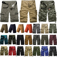 Mens Cargo Shorts Military Army Casual Combat Pants Summer Work Short Trousers