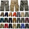 Mens Cargo Shorts Casual Summer Military Army Combat Camo Half Pants Tactical
