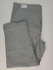 Hospitality Hotel Chef Pants Black White Checker 42-44 M 30 Zipper Flat Front
