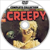 CREEPY Magazine. HORROR comic. 146 issues on DVD ROM & ANNUALS, etc. & software