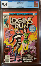 LOGAN'S RUN #6 1ST THANOS SOLO STORY BY MIKE ZECK WHITE PAGES CGC 9.4