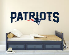 "Patriots Football Logo-Wall Decal Sticker Removable Wide 50"" x 14"" Height"