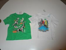 NWT Lot of 2 The Children's Place Dinosaur Theme SS T-Shirts Size 18 - 24 Months