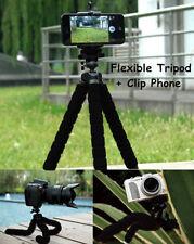 New Octopus Adjustable Universal Tripod + Phone Holder for iPhone Samsung Black