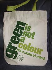 THE BODY SHOP GREEN IS NOT A COLOR IT'S A STATE OF MIND REUSEABLE BAG - NEW