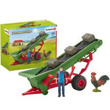 More details for schleich 42377 farm world hay conveyor playset w/ farmer, cockerel figure 3+ yrs