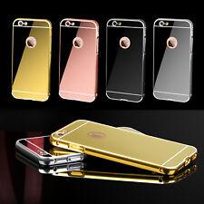 For iPhone 7 6 6s Plus Case Luxury Aluminum Bumper Mirror Metal Shockproof Case