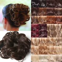 Stranded curly large messy hair scrunchie thick hairpiece wrap updo bun natural