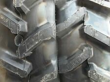 TWO 9.5x16, 9.5-16  R1 6 ply Bar Lug  Backhoe Kubota MX5000DT Tractor Tires