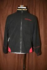 Ski Doo Black Bombardier Fleece Full Zip Jacket Medium M ATV Snowmobile