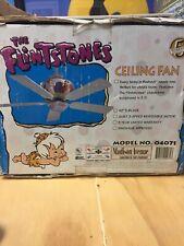 """Flintstones Ceiling Fan 42"""" 5-Blade New In Box Hanna Barbera Vintage"""