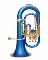 NEW GENERATION Bb PITCH BLUE BRASS COLORED EUPHONIUM+FREE CASE+M/P