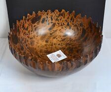 Gorgeous Real Mango Wood Fruit Bowl with 23.5cm Diameter. Beautiful Wooden Bowl